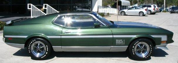 1971 mustang mach 1 specs